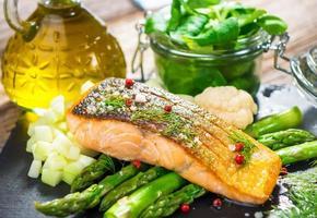 saumon rôti photo