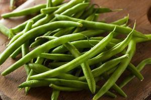 haricots verts biologiques crus