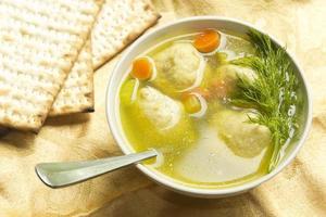 soupe aux boules de matzoh photo