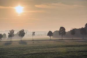paysage du matin de Bavière