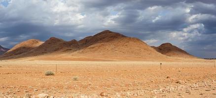 fantastique paysage désertique de namibie photo