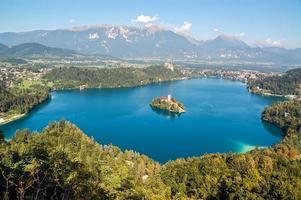 paysage de lac saigné