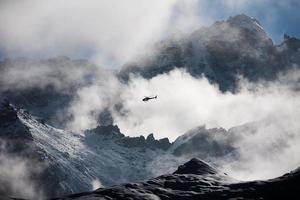 beau paysage de montagnes de l'himalaya photo