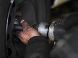 changement de pneu hiver photo