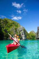 kayak dans le lagon photo