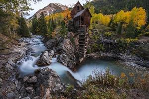 automne, dans, moulin cristal, colorado, paysage