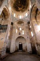Plafond, dôme et fresques de l'église de l'île Akdamar photo