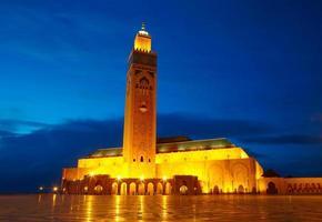 Mosquée hassan ii à casablanca, maroc afrique photo