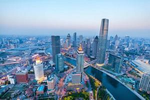 vue aérienne de tianjin photo