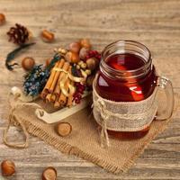 thé chaud d'hiver photo