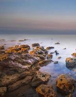 beau paysage marin d'hiver photo