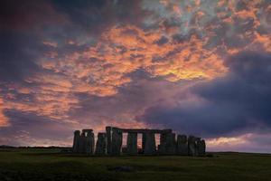 solstice d'hiver de Stonehenge photo