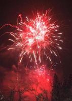 feux d'artifice japonais en hiver photo