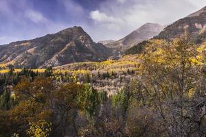 automne dans les montagnes de wasatch le long de la boucle alpine (utah) photo