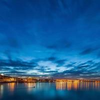 kiev city skyline by night