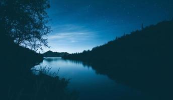 silhouette du lac saguaro photo