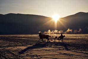 cildir de lac gelé. photo