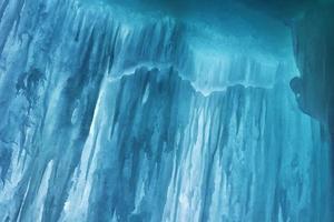 grotte de glace de la grande île photo