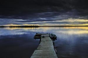 coucher de soleil sur le lac weese photo