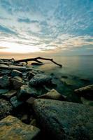 lever du soleil lac michigan photo