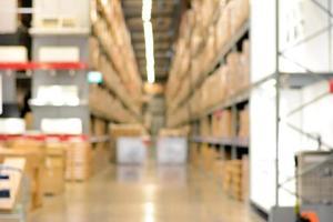 entrepôt ou entrepôt flou en arrière-plan photo