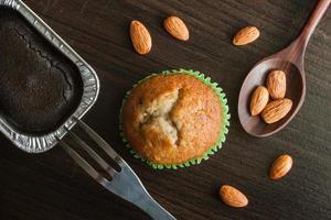 gâteau à la banane et gâteau au chocolat photo