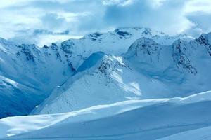 Silvretta alpes vue d'hiver (Autriche). photo