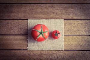 tailles de tomate photo