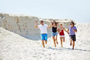courir sur la plage photo