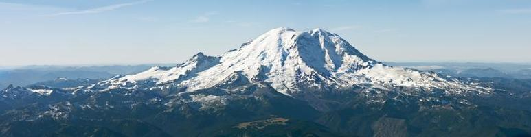 vue panoramique du mont rainier photo