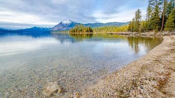 lac wenatchee en hiver