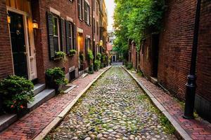 Acorn Street, à Beacon Hill, Boston, Massachusetts. photo