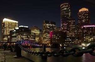 Skyline de Boston avec port et chaîne photo