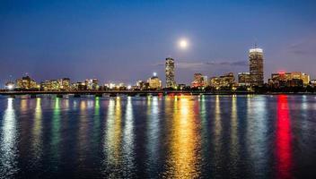 super lune sur boston photo