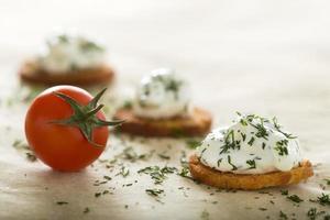 tartinade de fromage à la crème fraîche photo