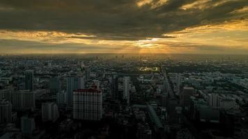 coucher de soleil de Bangkok