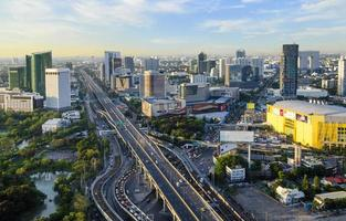 scape de la ville de bangkok, place centrale lardprao