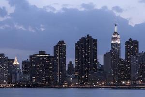 Midtown Manhattan, crépuscule de New York photo