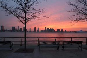 coucher de soleil sur le hudson photo