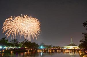 feux d'artifice à suan luang rama ix, bangkok