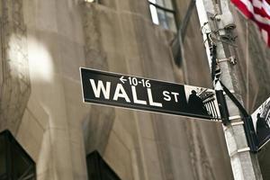 Plaque de rue de mur à Manhattan New York photo
