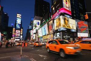 taxis sur la 7e avenue à Times Square, New York City