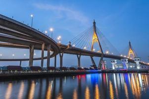 pont avant le coucher du soleil photo
