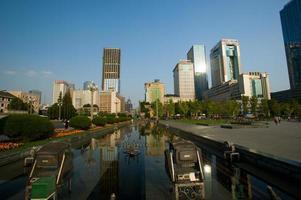 place tianfu, centre d'affaires à chengdu, chine. photo