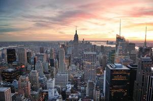 coucher de soleil new york city photo