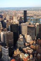 vue aérienne de la ville de new york photo