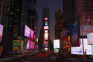 new york city la nuit. photo
