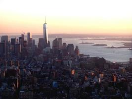 vue de dessus sur la ville de new york photo