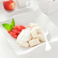 gnocchis au fromage cottage photo
