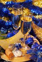champagne pour le nouvel an photo